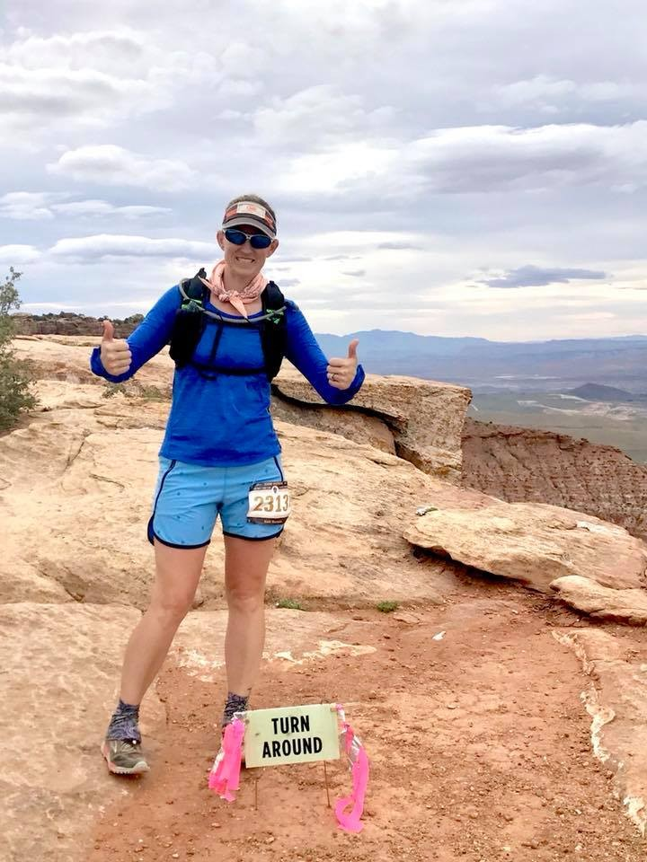 Out on course Zion 100k, 2017. :)