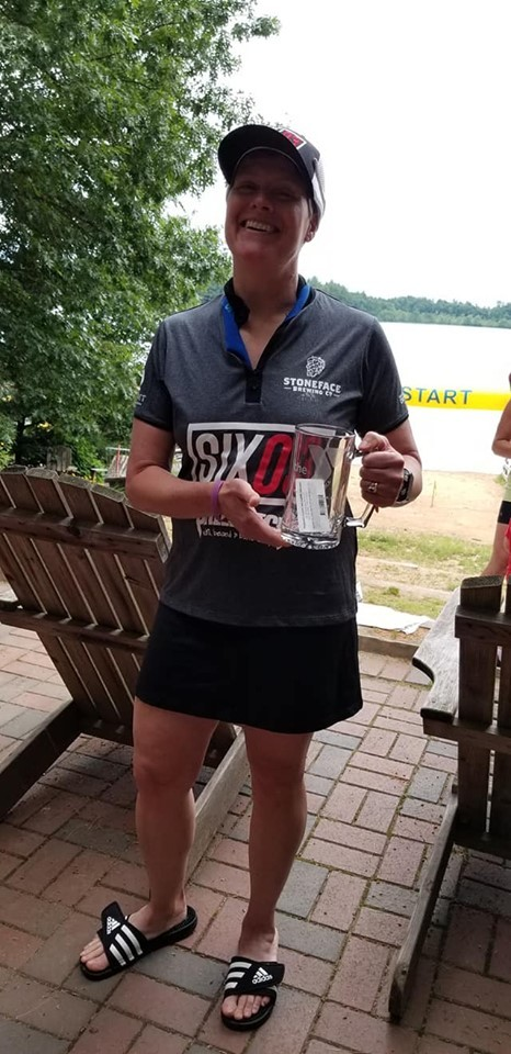 2019 TRI for the Y, Kingston, NH. A glute/hamstring strain kept me for running for 6 weeks during the summer, so I raced a couple of Aquabike events. I was first overall in the Aquabike (I even beat out the first male by 23 seconds).