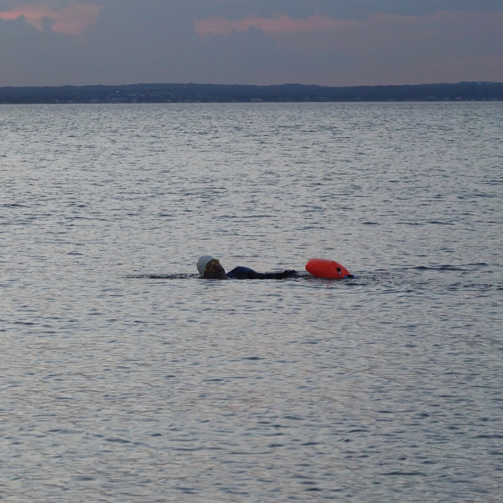 A twilight swim, LI Sound