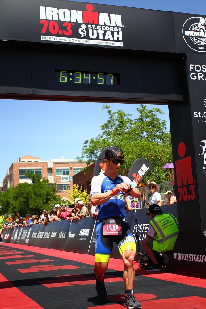 Finishing Ironman St George 70.3