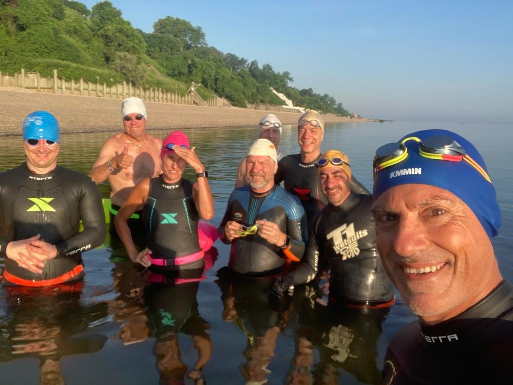 Mid summer fun. 1.25mi swim with the gang