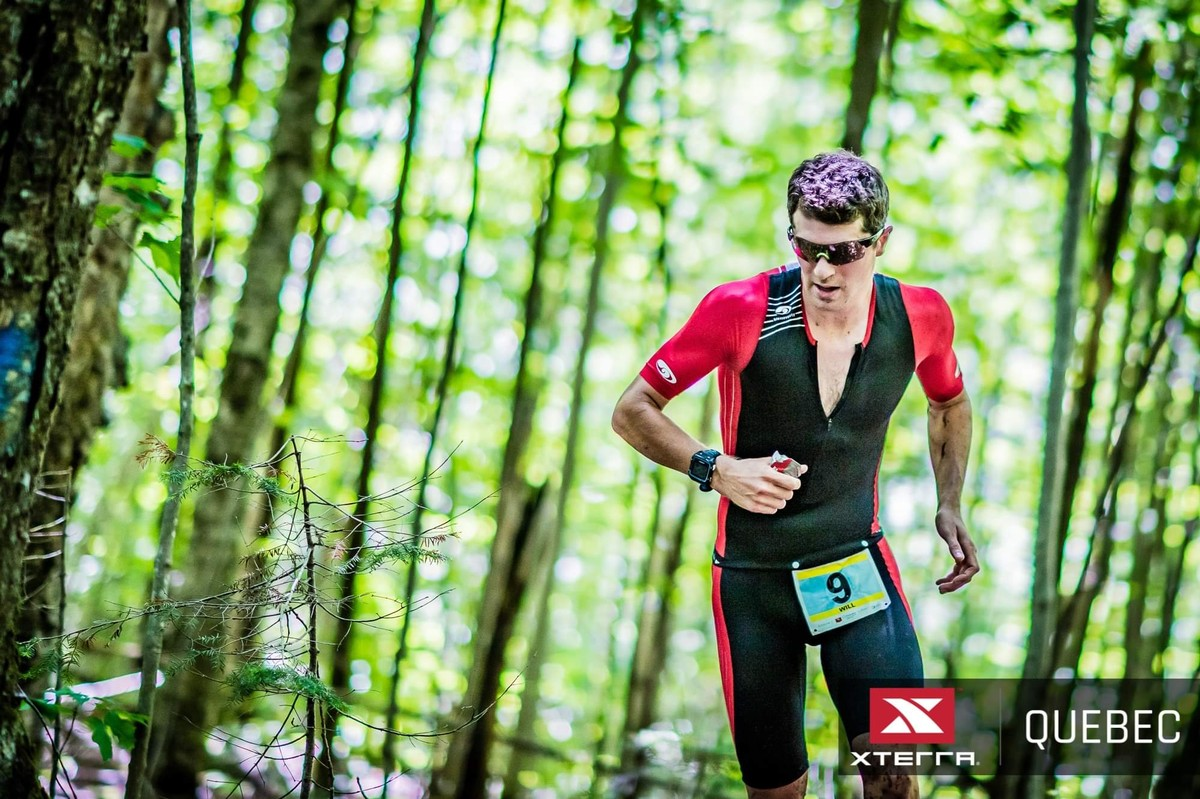 En route to 3rd at XTERRA Quebec 2019