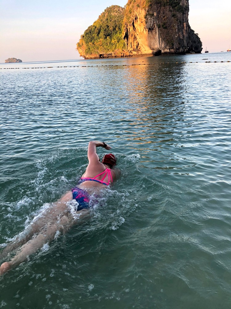 Swimming in the Andaman Sea - Thailand (February Team Challenge)